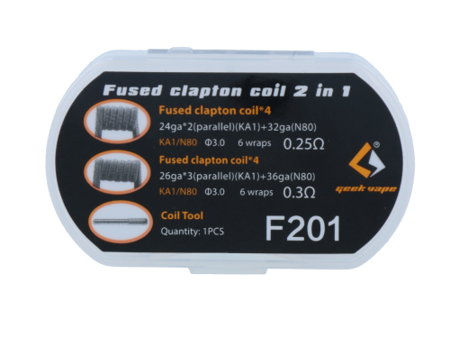 Geek Vape Fused Clapton Coils 2 in 1